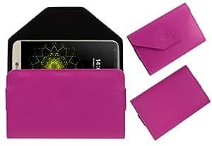 Acm Premium Flip Flap Pouch Case For Lg G5 Se Mobile Leather Cover Magnetic Closure Pink