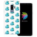 dessana Ente transparente Schutzhülle Handy Case Cover Tasche für Samsung Galaxy S9 Plus Quietscheentchen