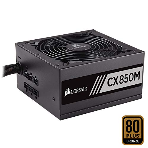 Corsair CX850M Alimentatore PC, Semi Modulare, 80 Plus Bronze, 850 W, EU