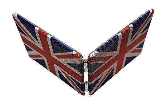 Taschenspiegel, rechteckig, Motiv: Union Jack, kompakt, zusammenklappbar, London-Souvenir, tragbar, britische Union Flagge, niedlich, Vintage-Retro-Look, für Make-up, Reisen, Junggesellinnenabschiede