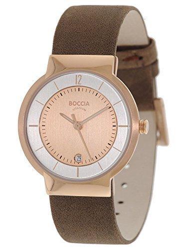 Boccia Damen-Armbanduhr Analog Quarz Leder 3123-12 Boccia Uhren