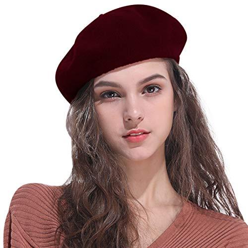DORRISO Nuevo Francés Gorra Boina Mujer Otoño Invierno 47388f5a682