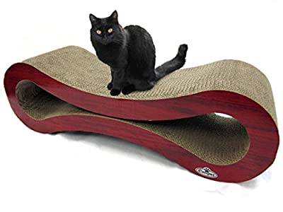 Large Cardboard Corrugated Sofa Bed style Cat Scratcher by Easipet