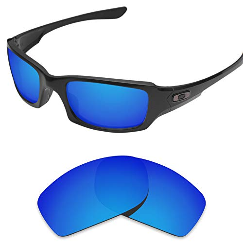 sunglasses restorer Kompatibel Ersatzgläser für Oakley Fives Squared 3.0 (Polarisierte Blue Mirror Linsen)