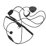 Minzhi Motorrad 2 Pin PTT Motorrad-Sturzhelm-Radio-Headset-Mikrofon Ersatz für Kenwood 3207 Ham...