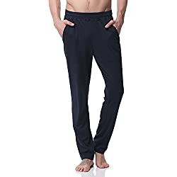 Jogging Hombre Pants Pantalones Deportivos Joggers Largos, PH-20(L,Blue)