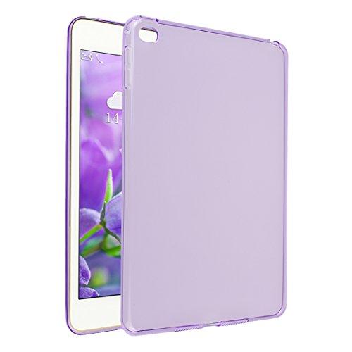 iPad Mini 4 Hülle, Asnlove TPU Schutzhülle Tasche Case Cover Kratzfest Weich Flexibel Silikon Bumper in Matt Crystal Transparent Tablet Schutzhülle für Apple iPad Mini 4 7.9 Inch 2015 Model, Lila
