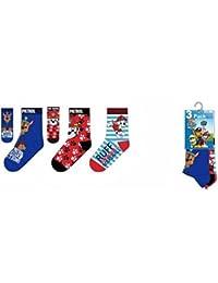 Pack de 3 pares de calcetines de la Patrulla Canina 31 34 17423fff18337