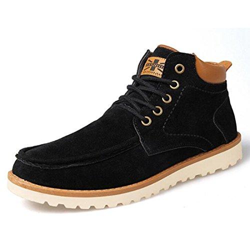 Scarpe da maree autunno e invernale scarpe da montagna in pelle scamosciata casual uomo scarpe da montagna retro Martin black