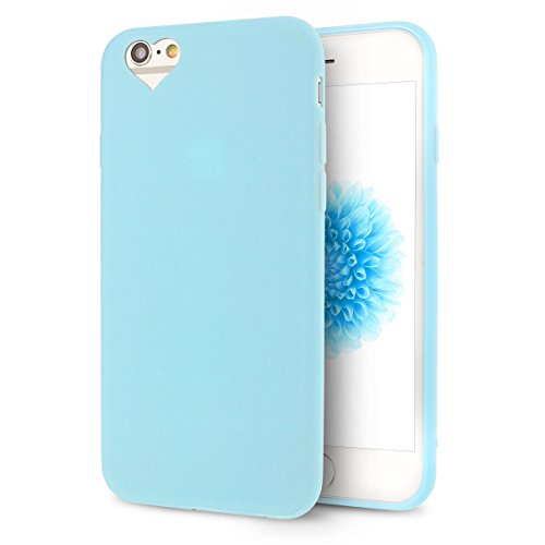 iPhone 6S Plus Hülle, iPhone 6 Plus Silikon Schutzhülle, Anfire Candy Handy Case Hülle für Apple iPhone 6S Plus / 6 Plus (5.5 Zoll) Liebe Herz Muster Weich TPU Silikon Schutzhülle Schön Muster Schale  Blau
