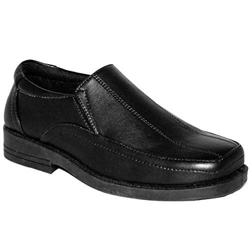 Kinder Schuhe für Jungen für Hochzeiten, Feste, Klettverschluss, rutschfest, Kunstleder Black / Slip on
