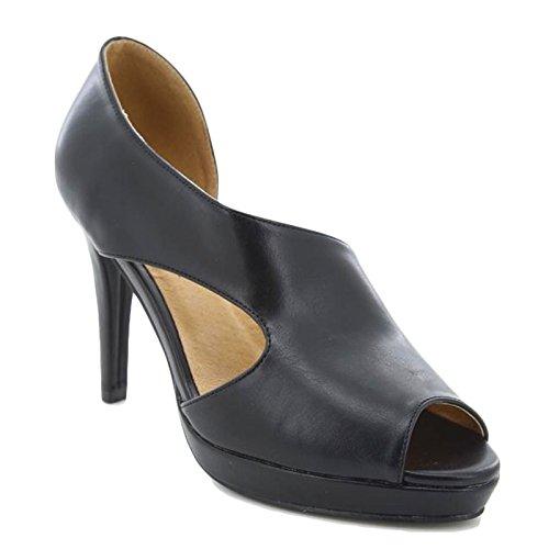 Toocool - Scarpe donna decolt? decollete open toe eleganti nuove Queen Helena ZM25182 Nero