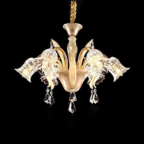 OLI Kronleuchter - Creative Glass Shade Kristallleuchter, Bar Cafe, Innenbeleuchtung,Kronleuchter-6-Kopf