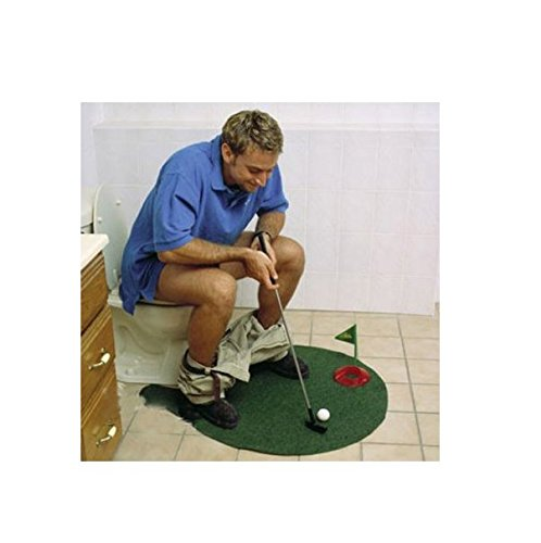 Primi Mini Toilette Jeu de golf Putter Tapis de putting Golf