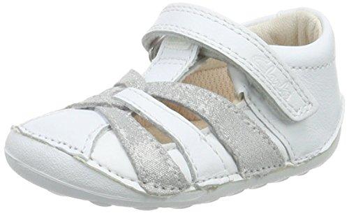 Clarks Little Mae, Sneakers Basses fille Gris (Metallic Combi)