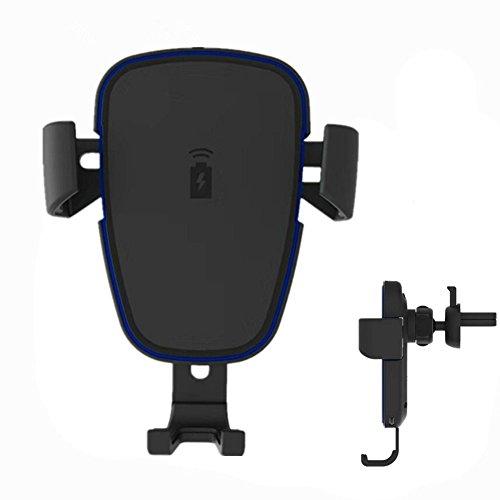 kabelloses Auto Ladegerät, AOSANG Qi KFZ Ladekabel Dock Mount Air Vent Phone Halter Halterung für iPhone 8/8 Plus/X Samsung Galaxy Note 8/S8/S8 +/S7/S6 Edge +/Note 5 und alle qi ermöglichen Handys (Auto-telefon-vent Halter Lg G3)