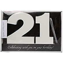 Wooden Birthday Signature Plaque ~ Happy 21St Birthday Gift