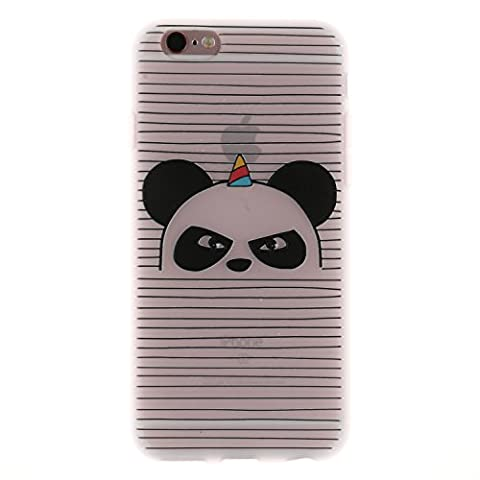 iphone 6/6s Case, iphone 6/6s Soft Case, Cozy Hut® Soft TPU Cover Slim Fit Ultra Thin Anti-Scratch Shock Absorption Protective Back Case Cover Shell for iphone 6/6s, Cute Panda Pattern Design Cover Case for iphone 6/6s 4.7 Inch -