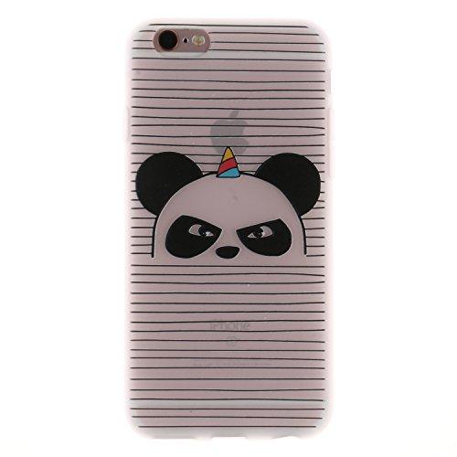 iPhone 6 Plus/6S Plus Coque, Voguecase TPU avec Absorption de Choc, Etui Silicone Souple Transparent, Légère / Ajustement Parfait Coque Shell Housse Cover pour Apple iPhone 6 Plus/6S Plus 5.5 (Panda e Panda en colère