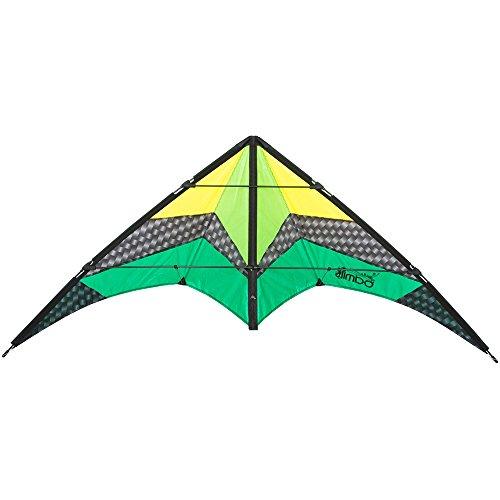 Invento 112382 - Limbo II Emerald Zweileiner Lenkdrachen, Ab 10 Jahren, 67 x 155 cm Ripstop-Polyester 2-6 Beaufort