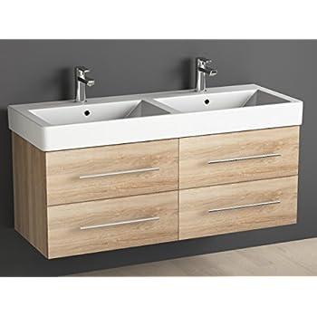 aqua bagno badm bel 120 cm inkl keramik doppelwaschtisch badezimmer m bel inkl waschbecken. Black Bedroom Furniture Sets. Home Design Ideas