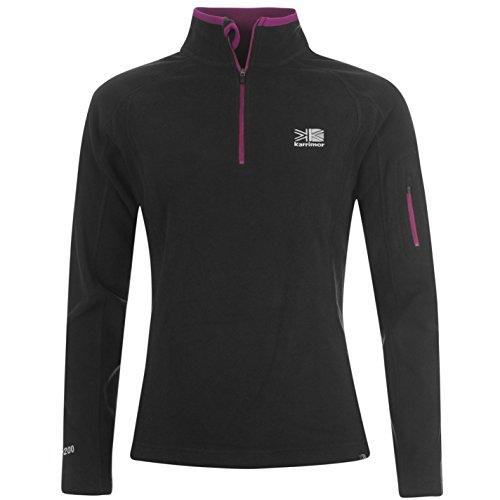karrimor-womens-ladies-microfleece-pullover-sportswear-activewear-top-warm-black-16-xl