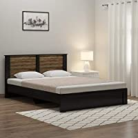 Spacewood Joy Queen Size Engineered Wood Bed (Particle Board - Natural Wenge)