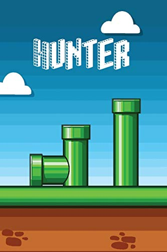 Hunter: Vintage Video Game Personalized Name Notebook Journal Diary Sketchbook With 120 Lined Pages 6