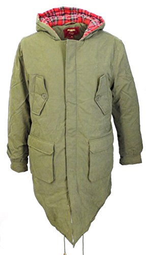 New Merc London M51 Style Mod Fishtail Parka Olive for sale  Delivered anywhere in UK
