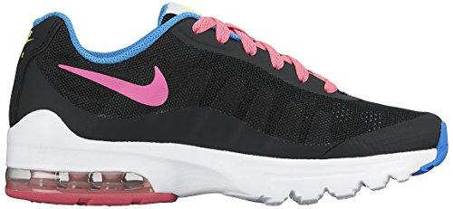 Nike Air Max Invigor (GS), Scarpe da Corsa Bambina Multicolore - Negro / Rosa / Verde / Azul (Black / Pink Pow-Volt-Photo Blue)
