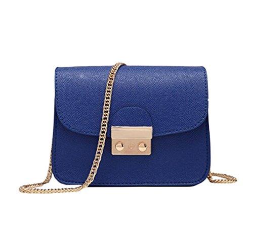 Piccola Custodia Signora Messenger Bag Pacchetto Quadrato Mini Pacchetti Per Natale Blue