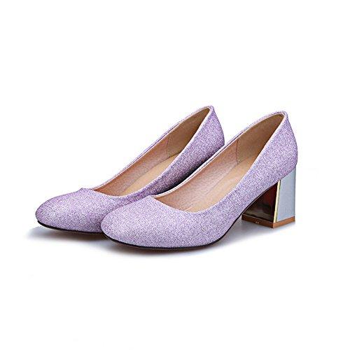 Adee Mädchen Western Polyurethan Pumpen Schuhe Violett