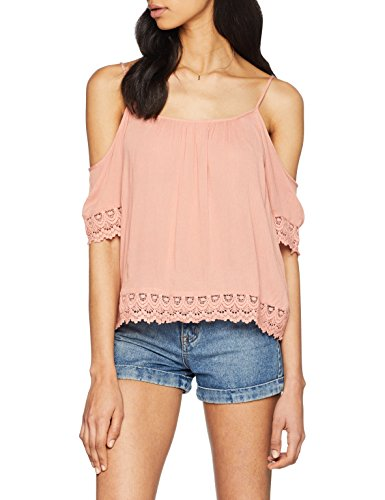 ONLY Damen Bluse Onlmiami CRIN SS Top WVN, Rosa (Rose Dawn Rose Dawn), 42