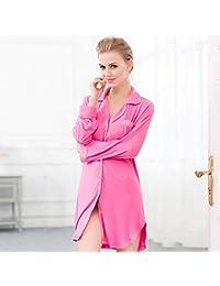 Liu Sensen Pijama De Otoño Y Verano Sexy Y Elegante Camisón De Servicio Al Cliente Clásico