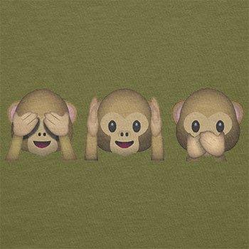 TEXLAB - Three Monkeys Emoji - Herren T-Shirt Oliv