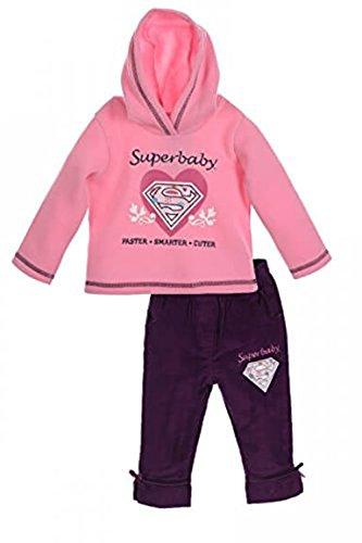 DC Universe Superbaby Mädchen Jogginganzug Hausanzug Freizeitanzug (67cm (6 Monate), Lila)