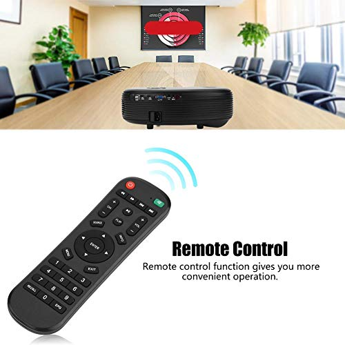 ASHATA Mini WiFi Projector  Quiet Projection1080P Full HD Projector Wireless Home Theater Projector with Remote Control Manual Keystone Correction  2000 1Contrast Ratio Black