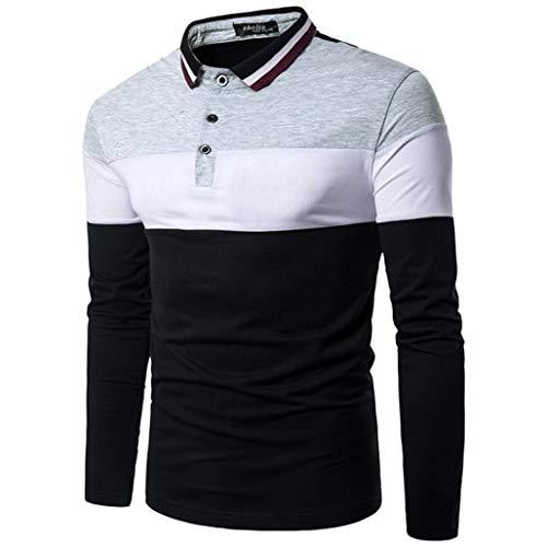 Herren Oberteile,TWBB Patchwork Pullover Blusen Sweatshirt Casual Tops Lange Ärmel Männer T Shirt O-Neck Hemd