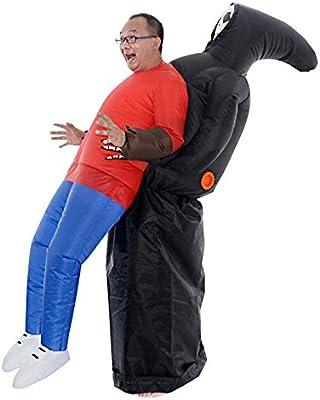 LaoZan Traje inflable para adultos Disfraz de Halloween Traje del fantasma