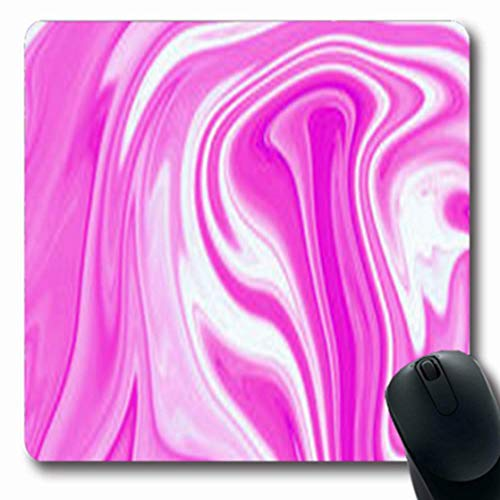 Mousepads Black Marble Ink Pink Pattern Vintage Abstract Watercolor Wall Liquid Paint Water Effect Grunge Oblong Shape 7.9 x 9.5 Inches Oblong Gaming Mouse Pad Non-Slip Mouse Mat