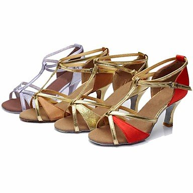 XINJING-S Damen Tanzschuhe Latein/Dance Sneakers Seide/Paillette Ferse Braun/Rot/Gold/Andere Schwarz