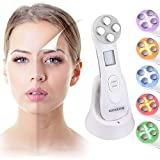 Skin Care Beauty Machine, 6 Modes LED Light Therapy Face Toner Anti Aging