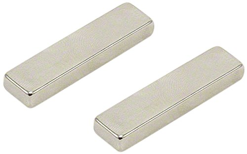 Magnet Expert® 40 x 10 x 5mm N42 néodyme aimant, 8,3kg force d'adhérence, pack de 2