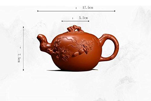 XWQ Teiera / Salute teiera / Yixing teiera / scoiattolo uva Tea Pot / Pure fatta a mano regalo Teiera