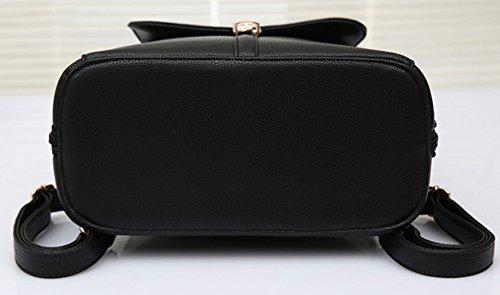 Longzibog Dual verstellbare Schultergurte und Hängeschlaufenband Mode Damen accessories hohe Qualität Einfache Tasche Schultertasche Freizeitrucksack Tasche Rucksäcke Gelb