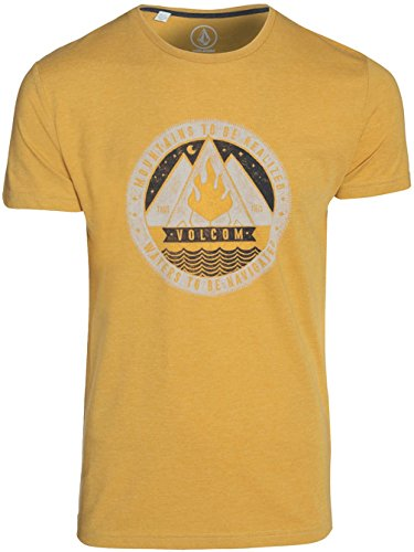 Herren T-Shirt Volcom Dusk Heather T-Shirt golden mustard