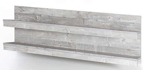 8.8.7.2954: made in BRD – Serie AWBW – schönes TV-Lowboard in weiss-grau gescheckt dekor – zusammen mit einem Wandregal bzw. großen Wandpaneel – TV-Anrichte - 2