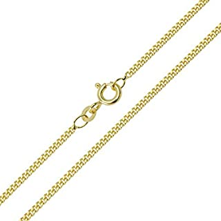 Panzerkette 333/8 Karat Gelbgold Breite 1,10mm Unisex Goldkette Halskette Collier NEU (42 Zentimeter)