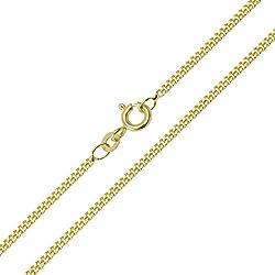 Panzerkette 585/14 Karat Gelbgold Breite 1,10mm Unisex Goldkette Halskette Collier NEU (45 Zentimeter)