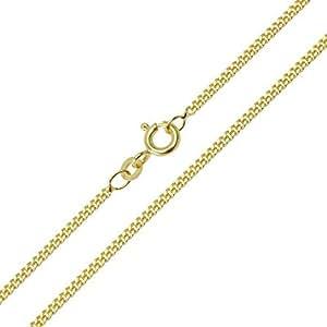 Panzerkette 585/14 Karat Gelbgold Breite 0,80mm Unisex Goldkette Halskette Collier NEU (38 Zentimeter)